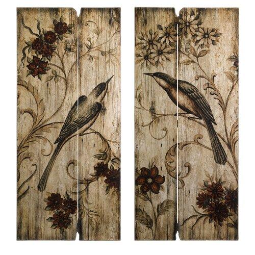 IMAX Norida Bird Decor Wall Art (Set of Two)