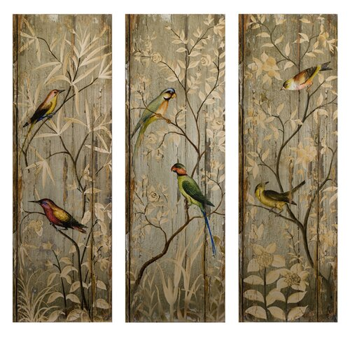 IMAX Calima Bird Decor Wall Art (Set of Three)
