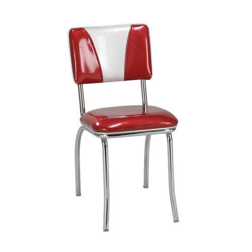 "Regal Retro Side Chair - Upholstery: Grade 8 Zodiac, ""V"" Upholstery: Ranchero Parsley Vinyl (Grade 2) at Sears.com"