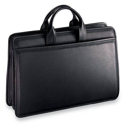 Jack Georges Platinum Triple Gusset Zip Top Briefcase