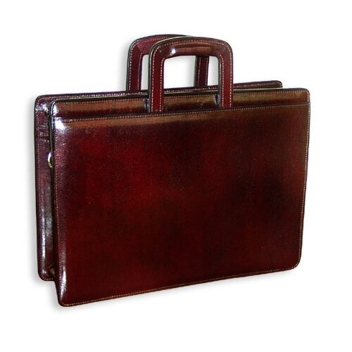 Jack Georges Sienna Double Gusset Zip Top Briefcase