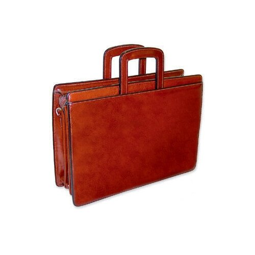 Jack Georges Sienna Triple Gusset Zip Top Briefcase