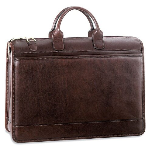 Jack Georges Saddle Double Gusset Top Zip Briefcase