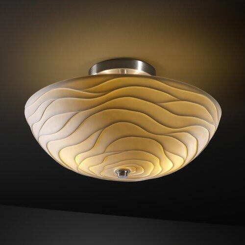 Justice Design Group Limoges 2 Light Semi Flush Mount   POR 8819