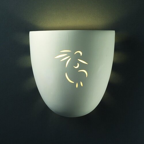 Justice Design Group Sun Dagger Downlight Large Pocket Outdoor Wall Sconce - Finish: Celadon Green Crackle, Cutout Option: Horse at Sears.com