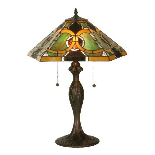 Warehouse of Tiffany Blue Star Torchiere Lamp   BB75B+PS228DB