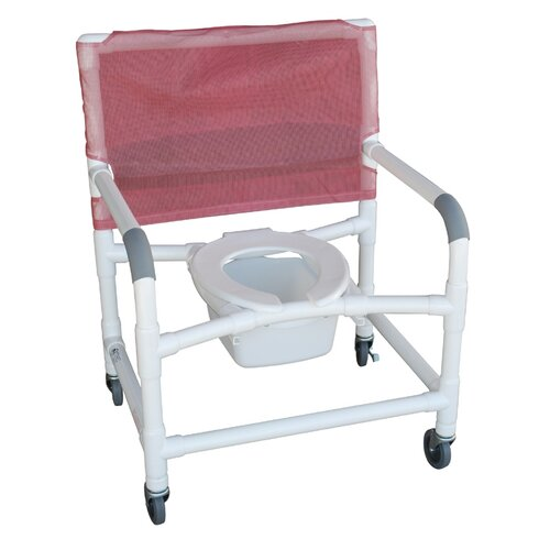 MJM International Deluxe Shower Chair   118 3TW SQ PAIL, 122 3TW SQ