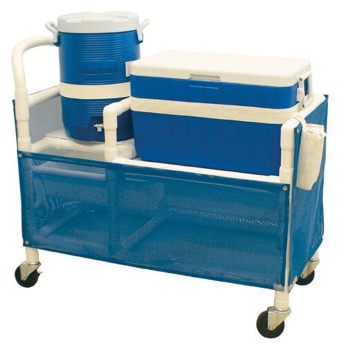 MJM International Hydration Cart with 48 Quart Ice Chest, 5 Gallon