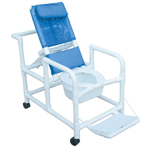 MJM International Echo Reclining Shower Chair with Footrest   Set of