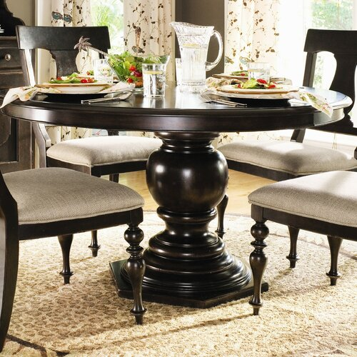 Paula Deen Home Paulas Round Pedestal Dining Table In Tobacco