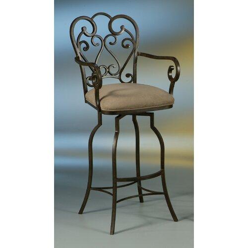 Pastel Furniture Magnolia Rust 30 Swivel Bar Stool W Arms