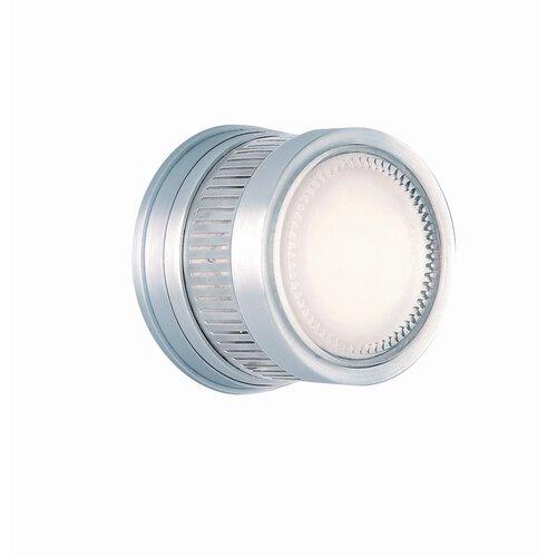 CSL Gear One Light Outdoor Wall / Ceiling Light in Satin Aluminum