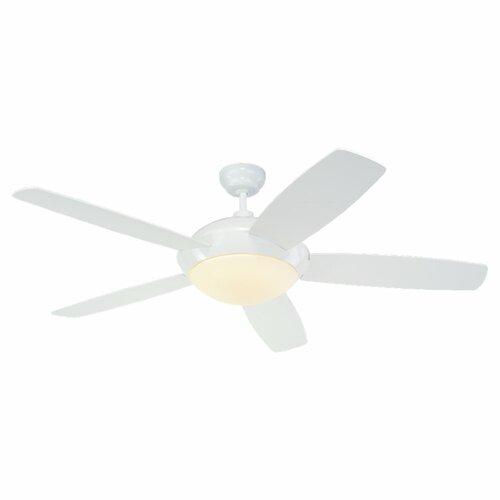 Monte Carlo Fan Company 52 Sleek 5 Blade Ceiling Fan with Wall Remote