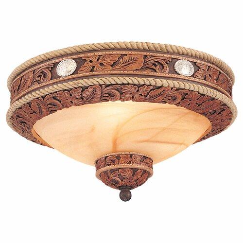 Monte Carlo Fan Company Durango Three Light Western Bowl Ceiling Fan