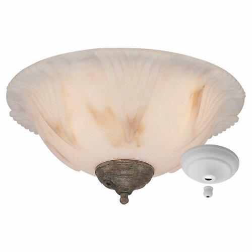 Monte Carlo Fan Company Three Light Finger Bowl Ceiling Fan Light Kit