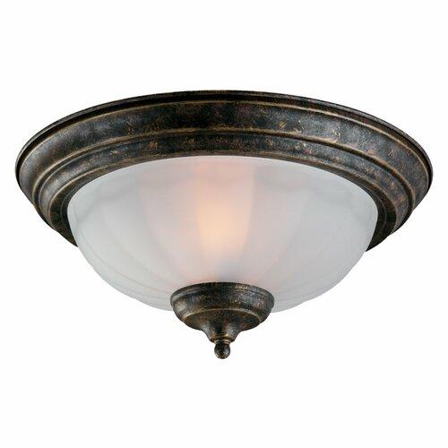 Monte Carlo Fan Company Two Light Frosted Melon Bowl Ceiling Fan Light