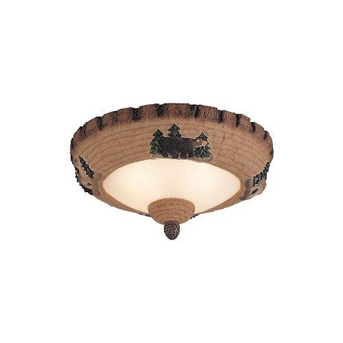 Monte Carlo Fan Company Great Lodge Pine Two Light Bowl Ceiling Fan