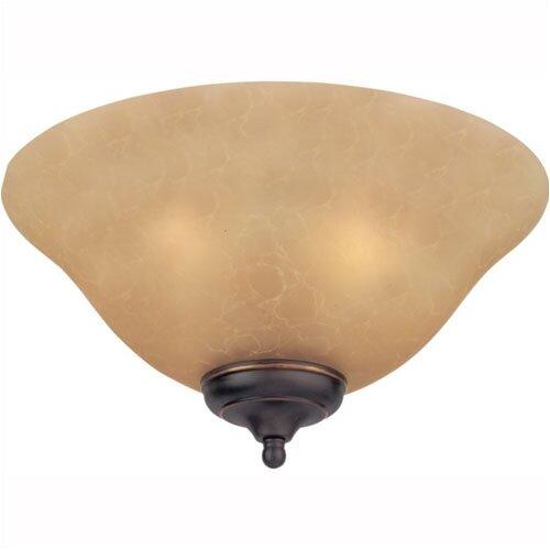 Monte Carlo Fan Company Teastain Mission Three Light Ceiling Fan Light