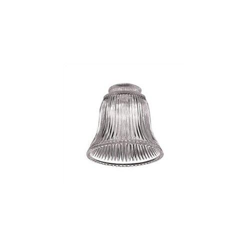 Monte Carlo Fan Company Clear Ribbed Accessory Glass Shade