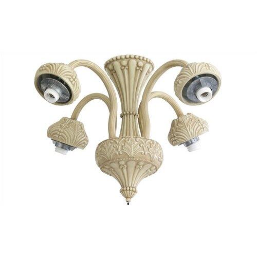 Monte Carlo Fan Company 2.25 Neck Four Light Ornate Ceiling Fan
