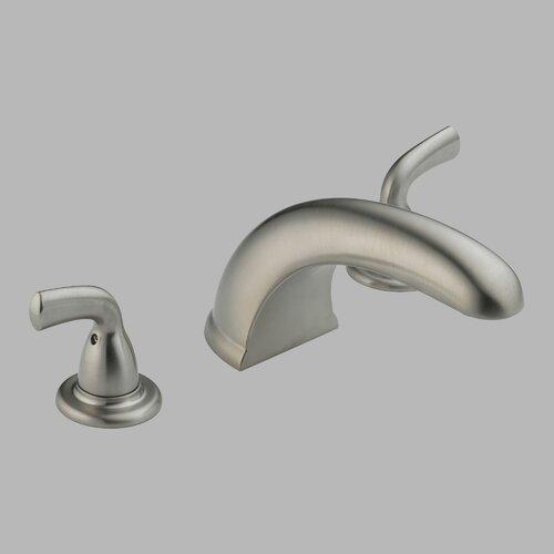 ... roman tub faucet delta victorian 2 handle deck mount roman tub faucet