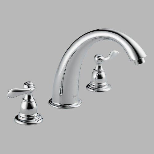 Delta Foundations Windemere Double Handle Deck Mount Roman Tub Faucet
