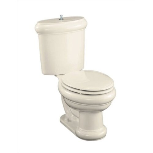 Kohler Revival Two Piece Elongated Toilet with Polished Chrome Trim