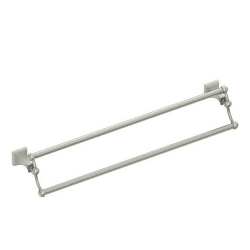 moen retreat double 24 wall mounted towel bar brushed nickel ebay