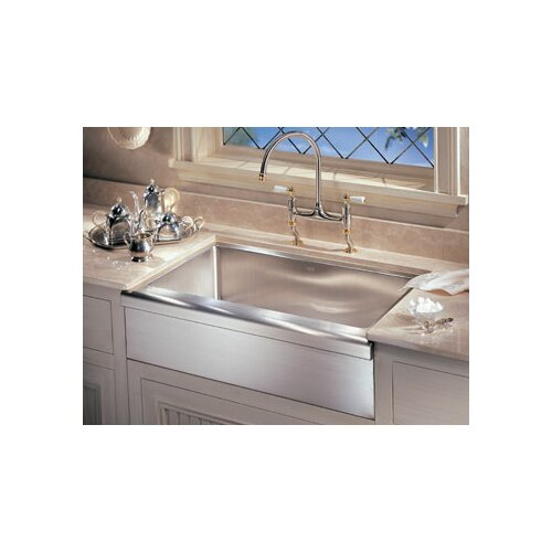 Manor House 33 Stainless Steel Apron Front Kitchen Sink   MHX710 33