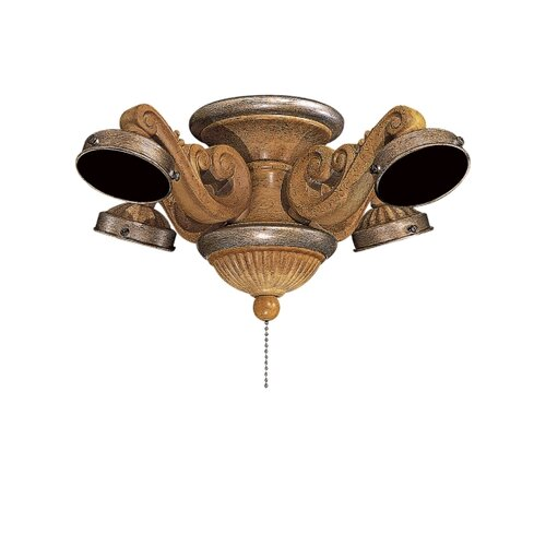 Minka Aire French Curl Four Light Branched Ceiling Fan Light Kit