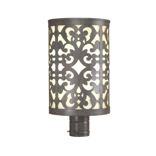 Minka Lavery Nanti One Light Outdoor Post Lantern in Iron Oxide