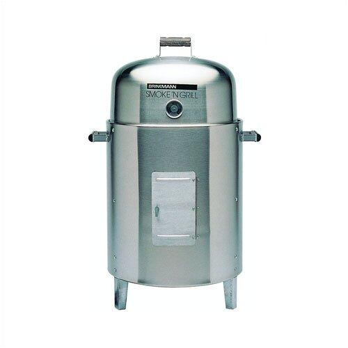 Brinkmann smoke n grill stainless steel charcoal smoker