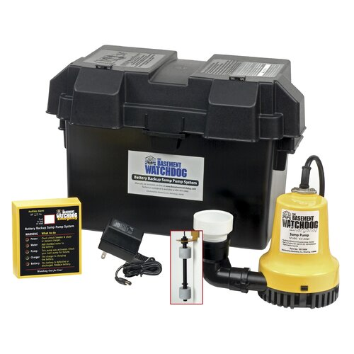 Sump Pump Monitoring System : Basement watchdog gph battery backup sump pump system