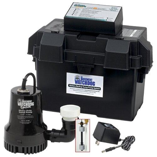 basement watchdog 1730 gph battery backup sump pump system
