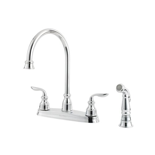 Price Pfister Avalon Two Handle Centerset Kitchen Faucet with Side