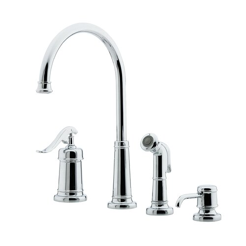 Price Pfister Ashfield One Handle Kitchen Faucet with Sidespray and