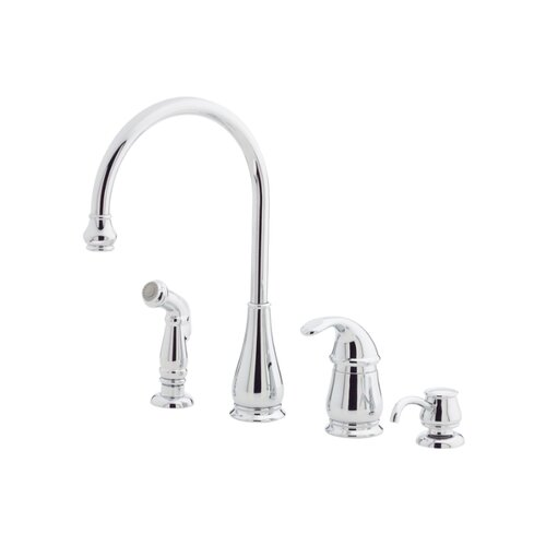 Price Pfister Treviso One Handle Kitchen Faucet with Sidespray and