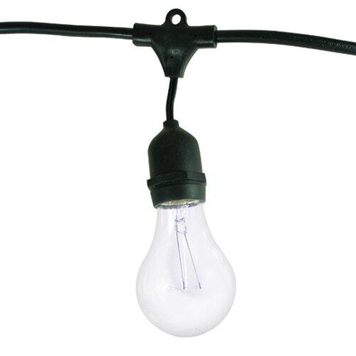 bulbrite industries 15 light outdoor string light with. Black Bedroom Furniture Sets. Home Design Ideas