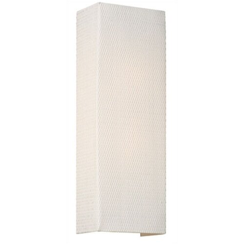 Wall Sconce In White Grcloth