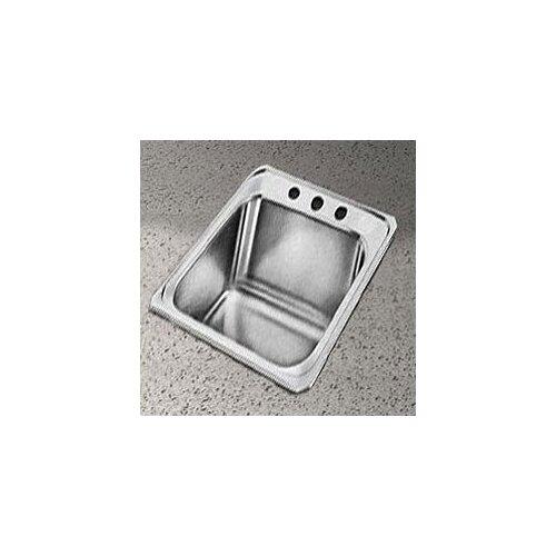 Elkay Celebrity 17 x 21.25 Self Rimming Stainless Steel Sink Set