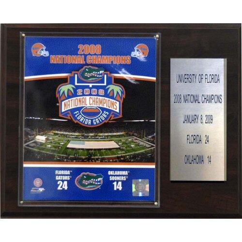 NCAA Football Florida 2008 Gators Champions Plaque   1215AAFBC08