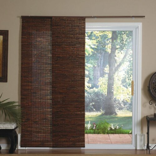 Crawford costa sliding bamboo window door panels treatments set of 4