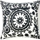 Suzani African Cotton Throw Pillow Color: Grey