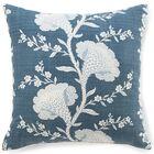 Geisha Cotton Throw Pillow Color: Slate Blue