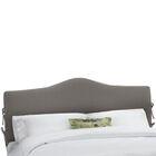 Slip Cover Upholstered Panel Headboard Size: California King, Upholstery: Navy