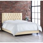 Button Tufted Upholstered Panel Bed Size: California King, Color: Shantung Parchment