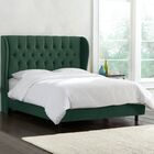 Carswell Tufted Wingback Upholstered Panel Bed Size: King