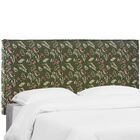 Mariela Seam Slipcover Debris Floral Upholstered Panel Headboard Size: California King