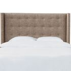 Moira Button Tufted California King Upholstered Wingback Headboard Size: California King