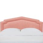Sawyer Notched California King Upholstered Panel Headboard Color: Petal, Size: California King